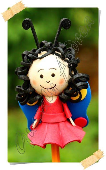 Pihe / Dekorgumi baba / Craft foam doll / Moosgummi-Puppe