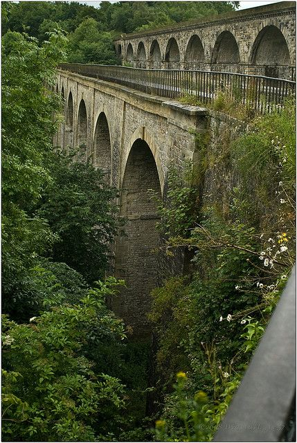 Half in England, half in Wales,Thomas Telford's aqueduct is a 70ft high and 710ft long aqueduct that carries the Llangollen Canal across the Ceiriog Valley