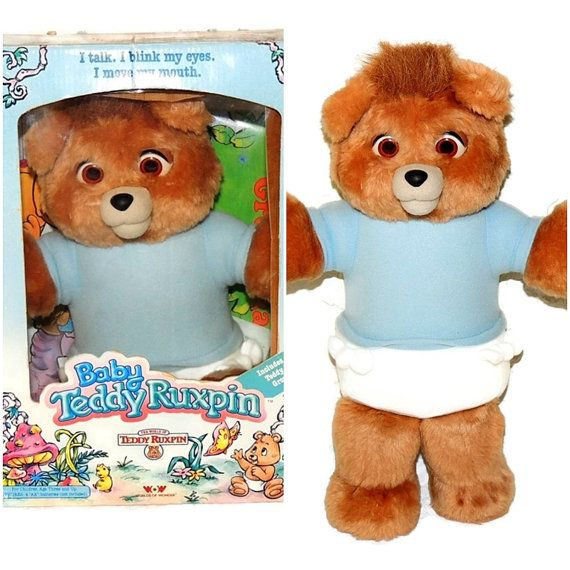 This Baby Ruxpin Teddy Bear is in EXCELLENT Condition. Our guess is that was not used as toy but purchased as a collectible. We purchased from