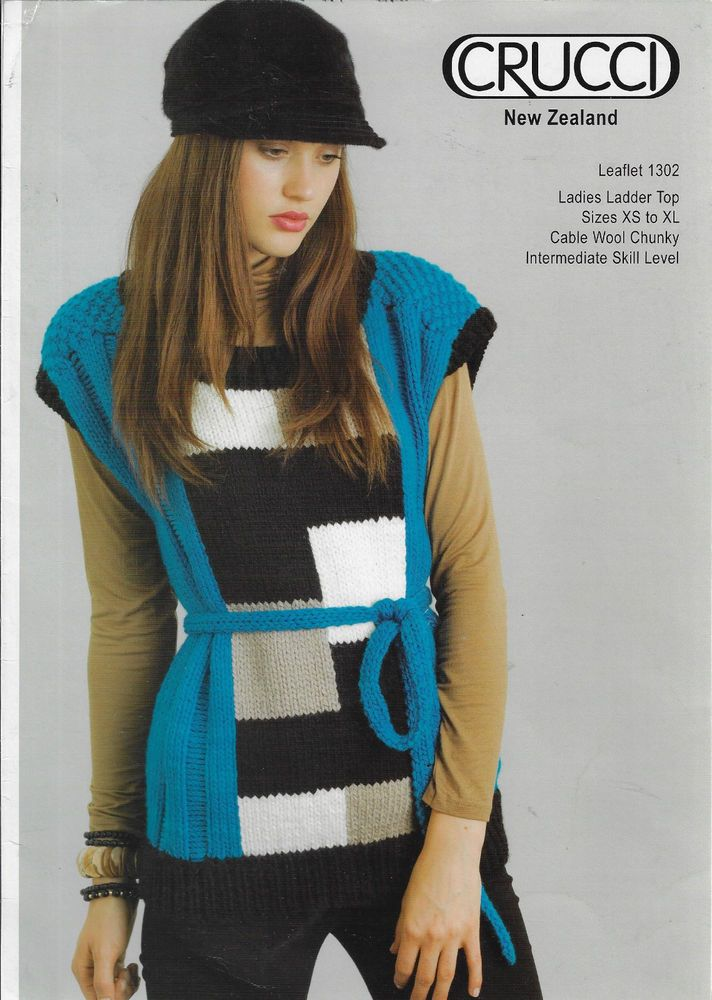 030d6bed59706 Women s Geometric Top Crucci 1302 knitting pattern chunky yarn  Crucci
