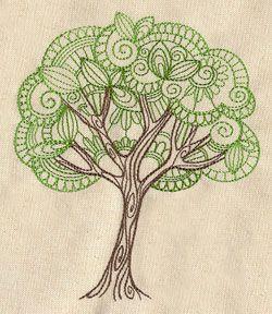 Árbol Delicate | Temas Urbanos: Diseños de bordado único y asombroso