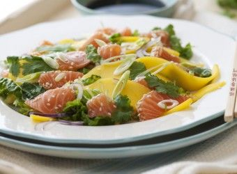 Prøv Fru Timians sashimi med mango og koriander #fisk #oppskrift #sushi
