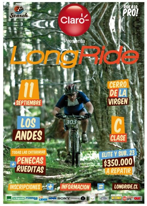 Afiche Modalidad XC, Copa LongRide MTB.