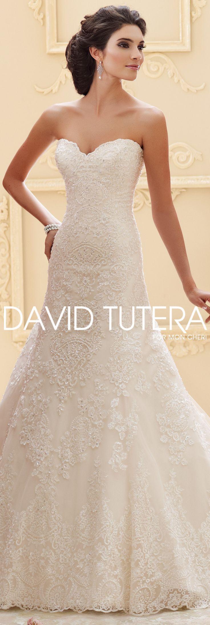 The David Tutera for Mon Cheri Fall 2015 Wedding Gown Collection - Style No. 215265 Katharine #laceweddingdresses