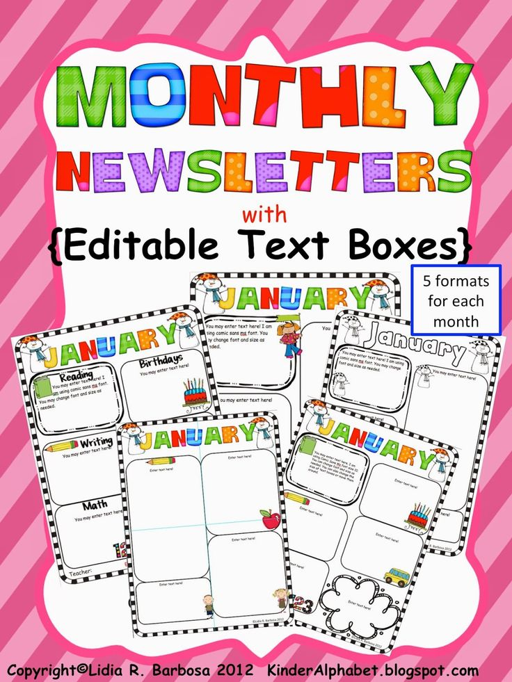 Weekly Newsletter Templates For Elementary Teachers  CityEsporaCo