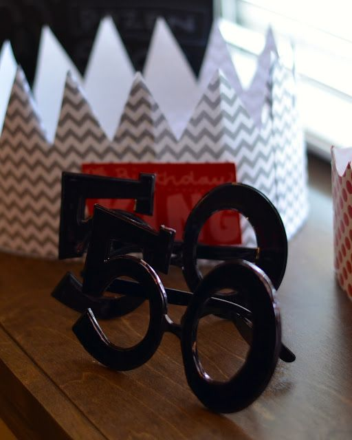 "Fun Glasses From Hobby Lobby For A ""50th Birthday Party"