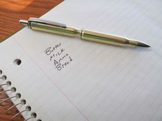 REFILLABLE BULLET PEN DIY- but I dont have any bullets... nor want a gun for that matter.