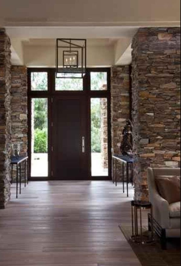 Stacked Stone Columns Dream Home Ideas Pinterest
