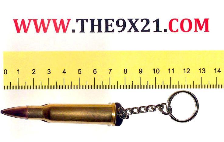 Portachiavi Proiettile Calibro 7.62x53R Russo. Bellissimo !!!