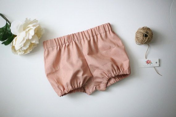 Linen Bloomers Bubble Shorts Diaper Cover Toddler Diaper
