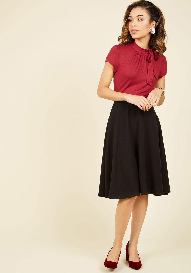 Bugle Joy Midi Skirt in Black, @ModCloth