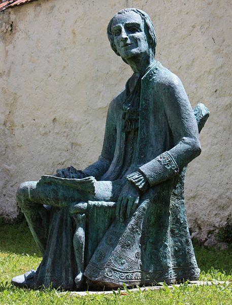 Sculpture of Lorenzo Da Ponte by Giorgio Igne (Sacile (PN)) on Stiftgasse, market town Millstatt, district Spittal an der Drau, Carinthia, Austria, EU