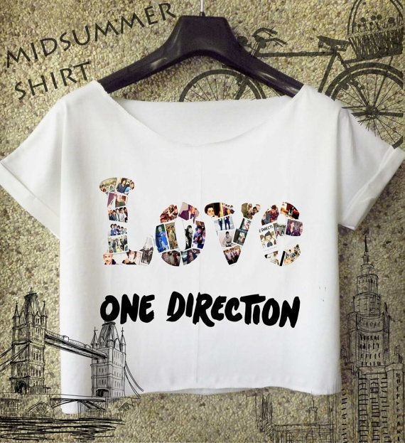 love one direction shirt 1d logo cropped tee by midsummershirt, $16.00