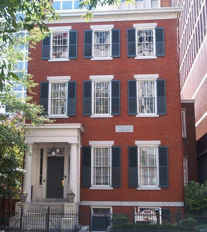 The very home where Lee was photographed standing on the porch in Richmond, Va. later in life. 707 East Franklin Sreet. It is the home General Lee and his family occupied during the Civil War.