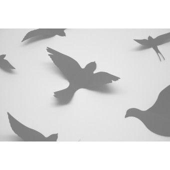 3D Szürke madarak csomag : 3D matricák - KaticaMatrica.hu - A minőségi falmatrica és faltetoválás webáruház