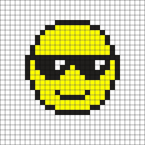 Cool Emoji Perler Bead Pattern