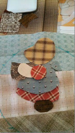 Quilt variations: Японская сумка с Санбоннет Сью