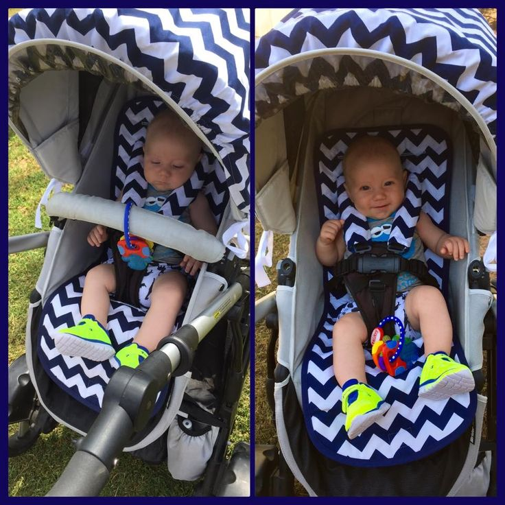 Cute little customer in his Steelcraft strider pram having ride in style with our #custommade #pramliner and #hoodcover