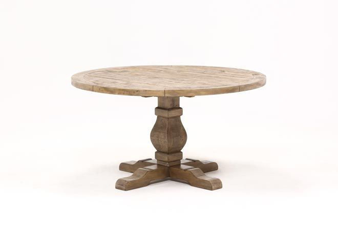 Caden Round Dining Table Reclaimed Wood Dining Table Round
