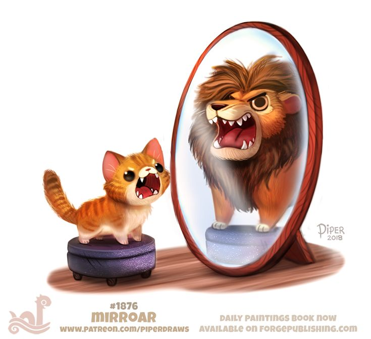 Daily Paint 1876# Mirroar by Cryptid-Creations.deviantart.com on @DeviantArt
