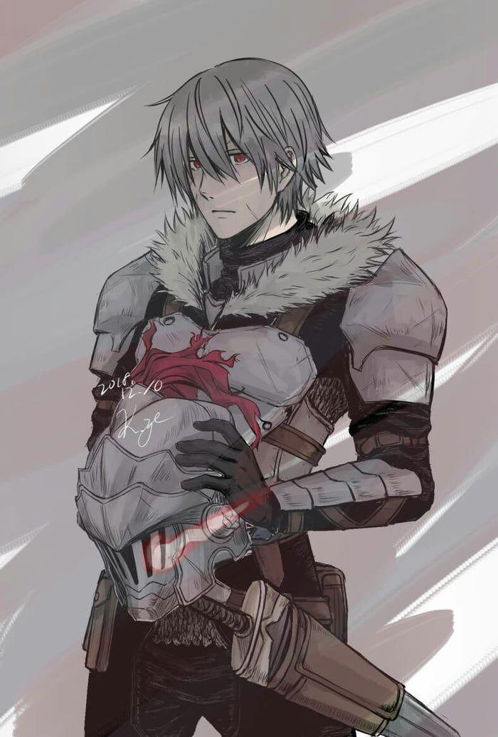 Goblin slayer face (fanart) | Slayer anime, Anime guys, Anime