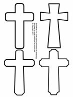 Printable small cross patterns to use in Christian Easter crafts for children.