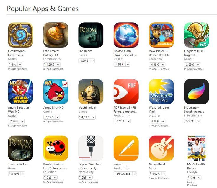 Popular Apps & Games - cele mai populare jocuri si aplicatii ale App Store | iDevice.ro