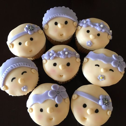 Baby girl face cupcakes                                                                                                                                                     More