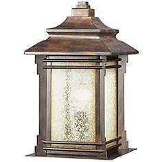 Franklin Iron Works Hickory Point Outdoor Pier Mount Light