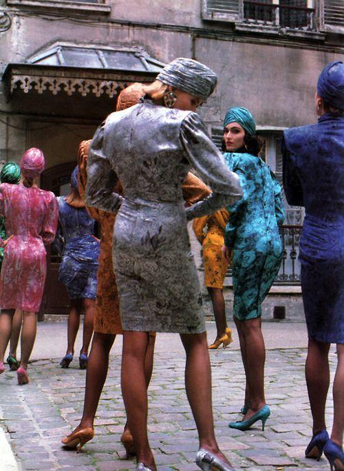Emanuel Ungaro, Dresses, in Vogue, 1986