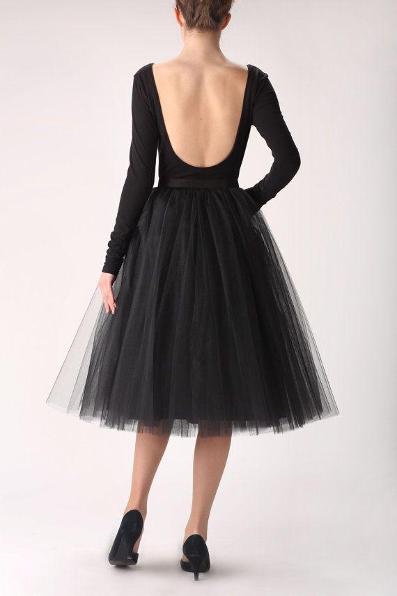 Black tutu tulle skirt, petticoat long, high quality tutu skirts, LOVE IT!!!