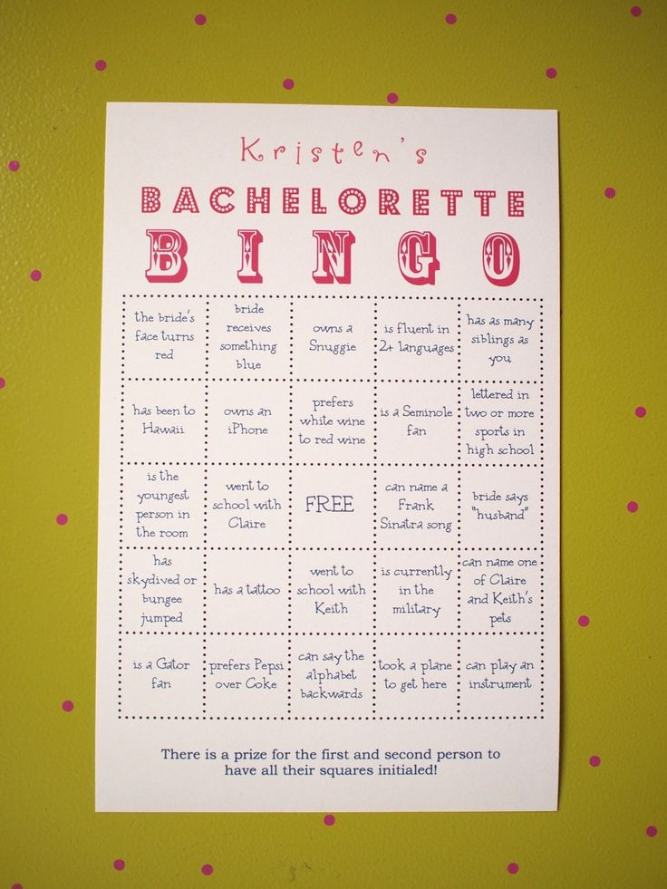 Items Similar To Bachelorette Party Bingo Customized Super Fun On Etsy