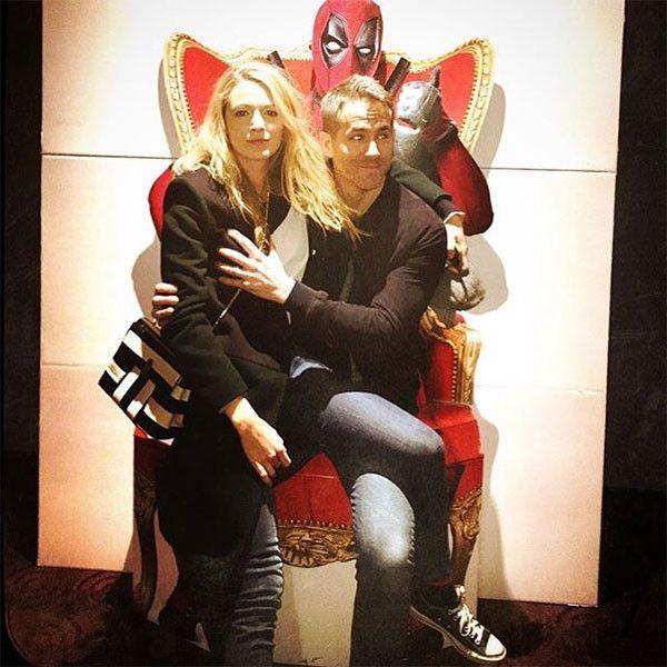 Ryan Reynolds & Blake Lively Get Naughty on Deadpool Throne  Blake Lively, Ryan Reynolds, Deadpool Throne, PdA