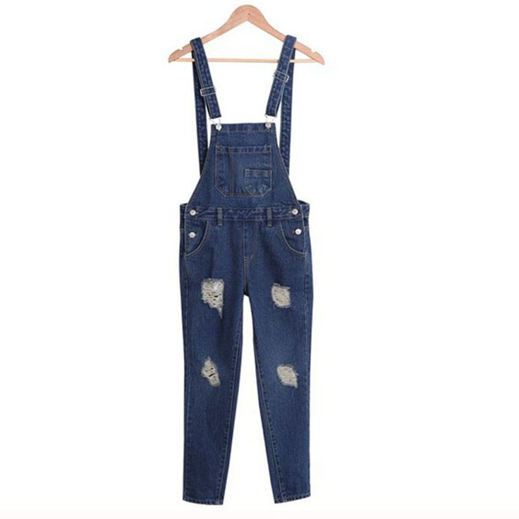 Cheap pants skinny jeans, Buy Quality pants short directly from China jeans ny Suppliers: Hote Sale Casual Korean Style Denim Jumpsuit With Pocket Button Women Romper Loose Overalls Clothing Jeans Rompers Dunga