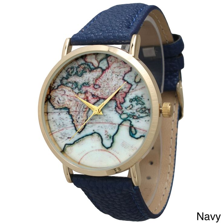 Enjoy the envious looks you get when people notice this lovely watch. The vintage map watch face adds a touch of adventure to the classic style of the watch. A soft and supple leather strap and tradit