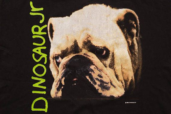 1992 Dinosaur Jr Bulldog T-Shirt, Whatever's Cool With Me, Vintage 90s, Grunge Band Graphic Tee, Rock Music, Nirvana, Mudhoney, Sonic Youth