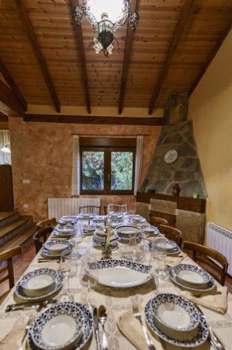 Casa Rioloseros, Villacorta León.  A mesa puesta!