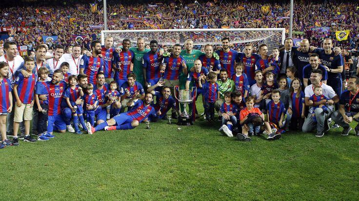 Los azulgranas conquistan la Copa del Rey por tercera vez consecutiva y levantan la 29º de la historia tras imponerse al conjunto vasco con goles de Messi, Neymar Jr y Alcácer en la despedida de Luis Enrique