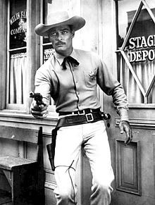 Lawman (TV series) - JOHN RUSSEL STARRED AS DAN TROOP,  TOWN MARSHALL OF LARIMIE: Starring	John Russell Peter Brown Peggie Castle