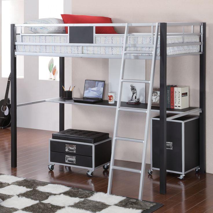 Best 25 Loft Bed Desk Ideas On Pinterest Bunk Bed With