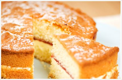 victoria-sponge-cake..Tried this recipe today,will never use another vanilla cake reipe again!Decorated with freshcream and strawberries,absolutely tasty!