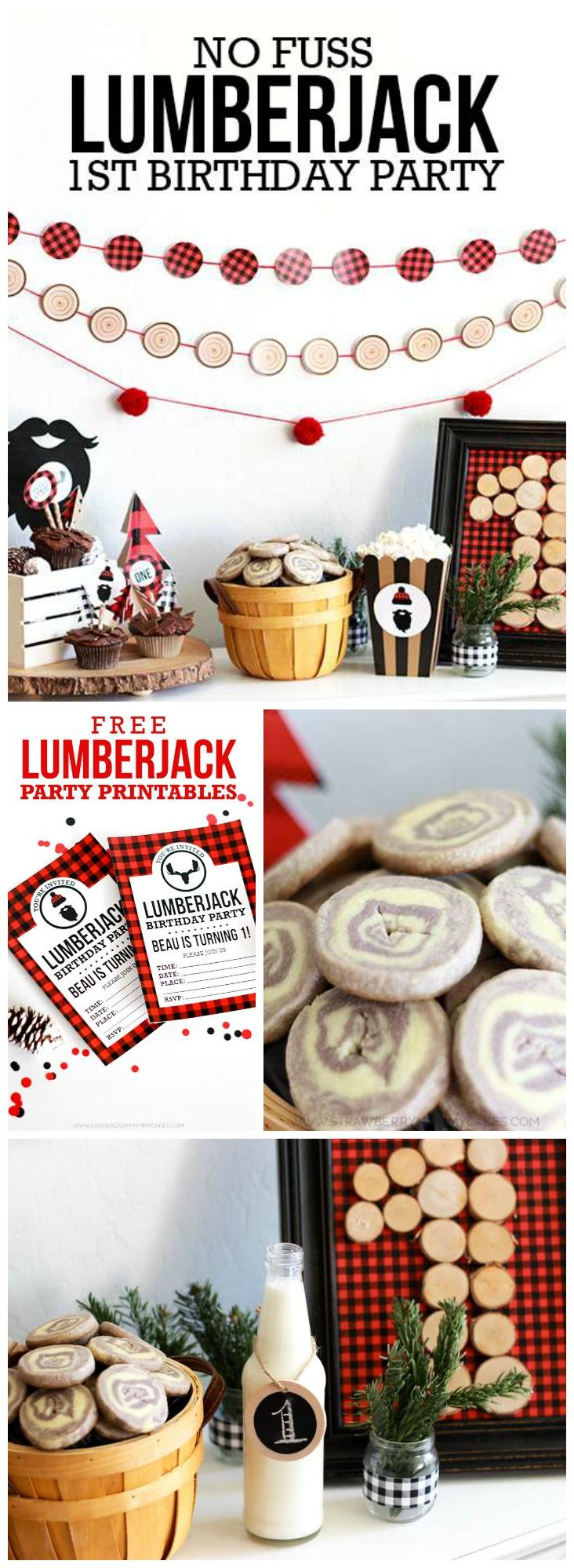 Check out this lumberjack first birthday, so fun! See more party ideas at CatchMyParty.com!