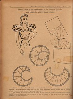 Patterns - sewing - vintage patterns - ruffle collar from https://picasaweb.google.com/110396987554751928801/MyFavoriteBooks_Sewing#5555923665671357010