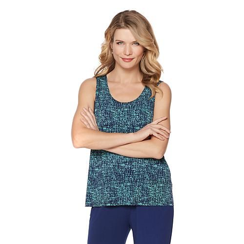 "Antthony Design Originals Antthony ""Ladies Who Lunch"" 2-piece Solid Jacket and Printed Tank Set"