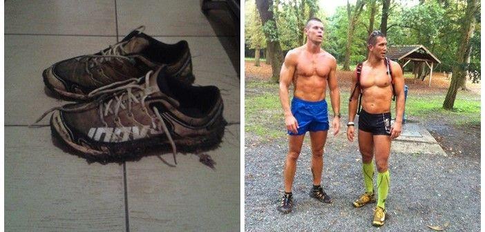 """A nagy cipőteszt. Teszteltem az újonnan beszerzett MUDClaw cipőmet. Kemény agresszív cipő, pont a Spartan Race-re és hasonló akadályversenyekre lett tervezve, 14 km-et nyomtunk sáros terepen, egyszer sem csúsztam el hála a nagy """"fogaknak"""" a cipőn, még nincs betörve, de jól meghúztam, hogy a lábam ne mozogjon benne, talán jobb is, sokat ugráltam a tócsák között és elég stabilnak tűnt.KATTINTS IDE!"""