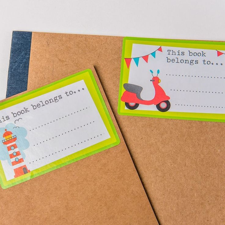 No more lost books with our bookplate labels.  Perfect for the front of schoolbooks, or the inside of story books
