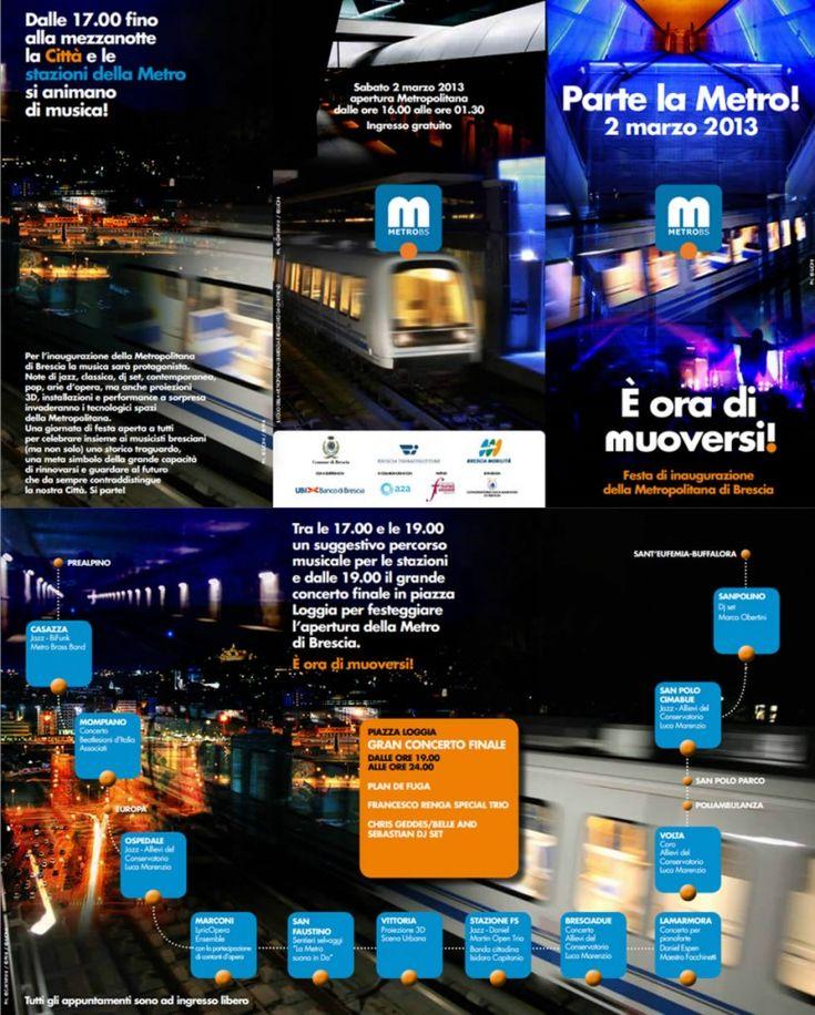 festa della metropolitana di Brescia http://www.panesalamina.com/2013/8676-festa-di-inaugurazione-della-metropolitana-di-brescia.html
