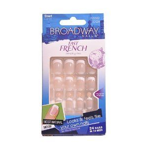 Broadway Nails Fast French Deceptions - 00382 by Broadway Nails. $0.99. most natural moon. Looks & feels like your own nails. Ten minute manicure. Broadway Nails Fast French Deceptions. Molde # 00382