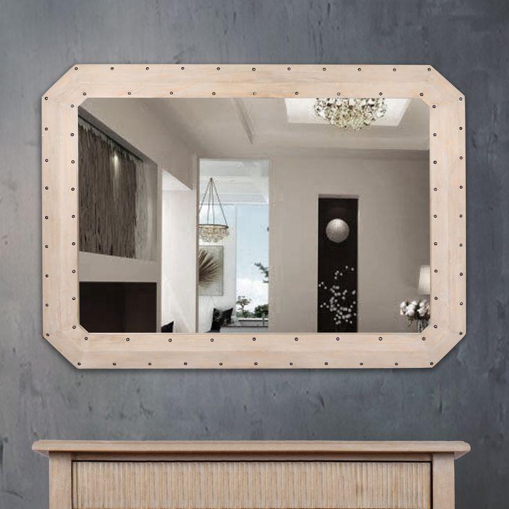 """Cermin membuat hiasan dinding yang hebat, dan terutama yang besar karena entah bagaimana menambahkan kedalaman ke ruangan tempat mereka ditampilkan. Cermin Achille adalah contoh yang bagus, dan memungkinkan Anda menghias ulang rumah Anda dengan gaya Vintage Romantic Prancis. Dari merek W-Home Secret de Maison. Bingkai itu terbuat dari kayu Mindi yang dihiasi paku bulat dekoratif dan finishing dengan cat """"ceruse"""" yang familiar untuk efek yang luar biasa. Hanya tersedia online di W-Home…"""