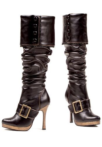 Sexy Buckle Pirate Boots